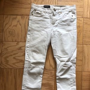 J Crew mid rise toothpick jeans size 27 white